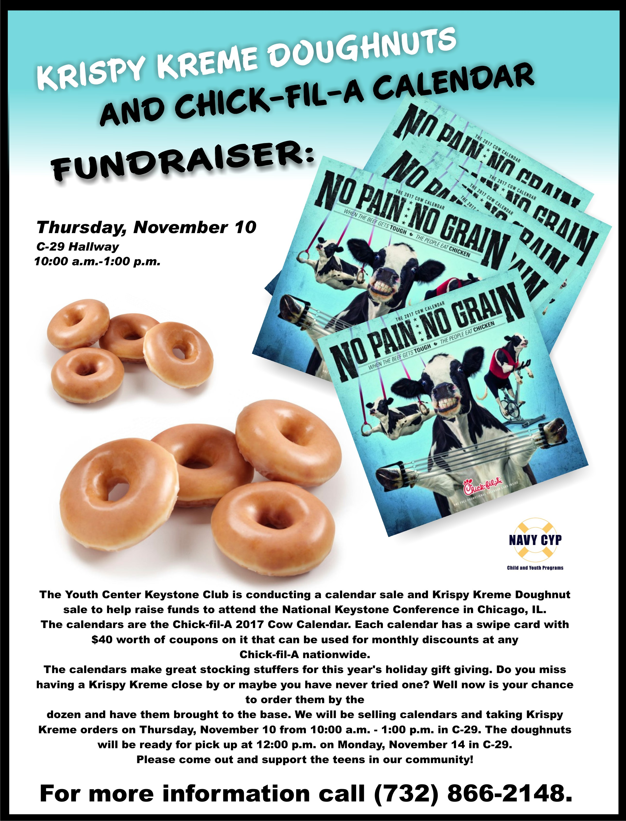 Krispy Kreme Calendar.Krispy Kreme Doughnuts And Chick Fil A Calendar Fundraiser