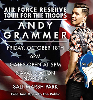 Naval Station Norfolk MWR Concert featuring Andy Grammer